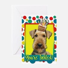 Invitation Cupcake - Airedale Greeting Card