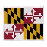 Maryland flag blanket Fleece Blankets