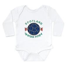 Scotland Tartan Fitba blue Long Sleeve Infant Body
