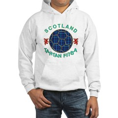 Scotland Tartan Fitba blue Hoodie