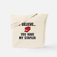 My Stapler Tote Bag