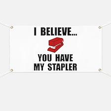 My Stapler Banner