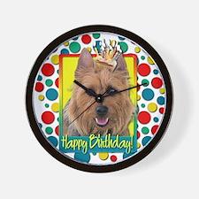 Birthday Cupcake - Australian Terrier Wall Clock