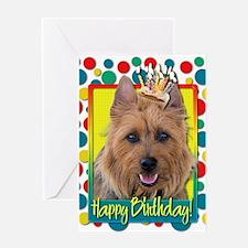 Birthday Cupcake - Australian Terrier Greeting Car