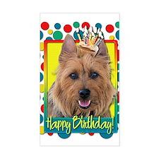 Birthday Cupcake - Australian Terrier Decal
