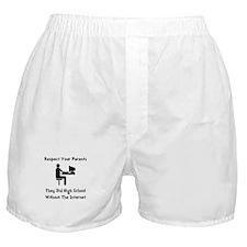 Respect Parents Internet Boxer Shorts