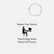 Respect Parents Internet Keychains