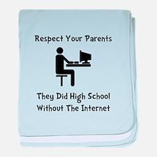 Respect Parents Internet baby blanket