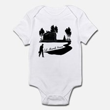 Eel Marsh House in Black Infant Bodysuit