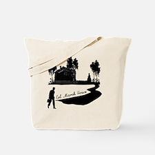 Eel Marsh House in Black Tote Bag