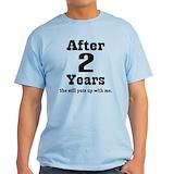 2nd anniversary Mens Light T-shirts