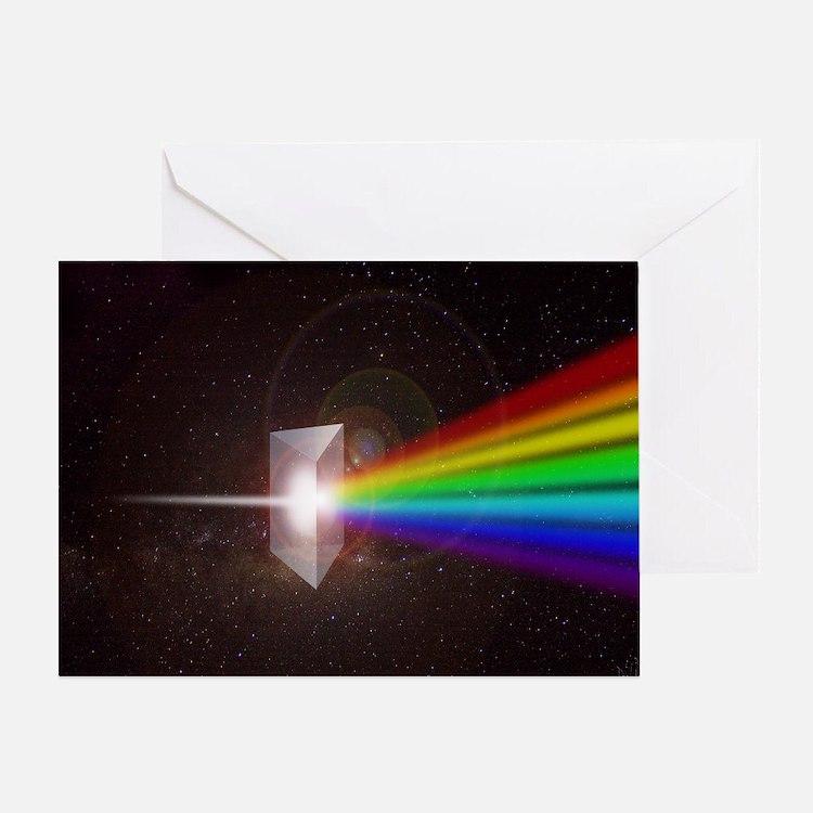 Prism Color Spectrum Greeting Card