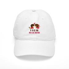 1 Year Together Anniversary Baseball Cap