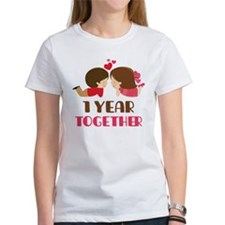 1 Year Together Anniversary Tee