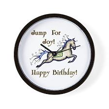Happy Birthday! Horse Wall Clock