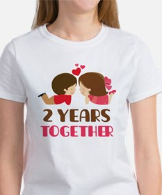 2 Years Together Anniversary Tee