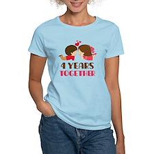 4 Years Together Anniversary T-Shirt