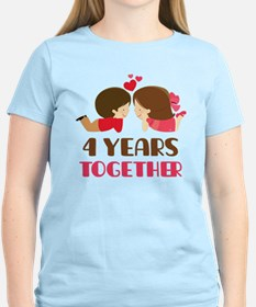4 Years Together Anniversary T-Shirt