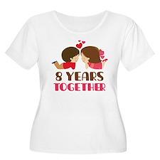 8 Years Together Anniversary T-Shirt