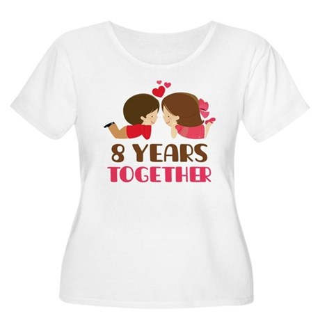 8 Years Together Anniversary Women's Plus Size Sco