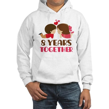 8 Years Together Anniversary Hooded Sweatshirt