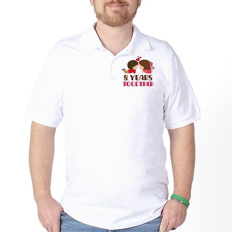 8 Years Together Anniversary Golf Shirt