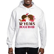 12 Years Together Anniversary Hoodie