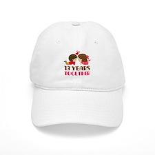 13 Years Together Anniversary Baseball Baseball Cap