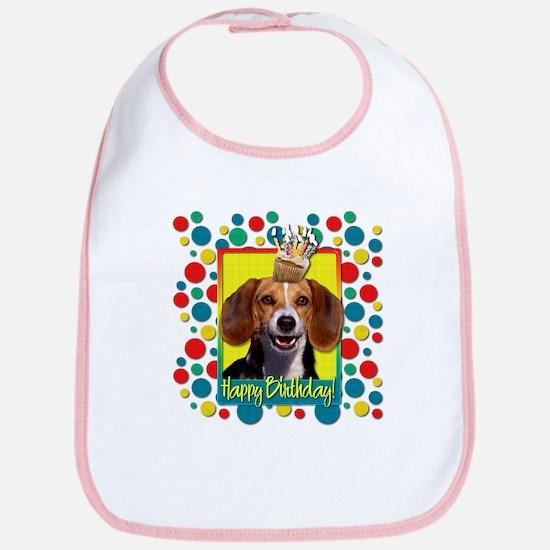 Birthday Cupcake - Beagle Bib