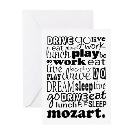 Mozart Music Life Greeting Card