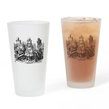 Talking Queens Drinking Glass