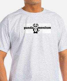 PANDAMONIUM Ash Grey T-Shirt
