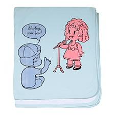 Shirley, You Jest! baby blanket