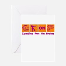 Funny Zombies Dunkin Donuts Greeting Card