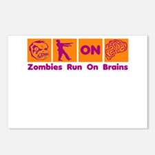 Funny Zombies Dunkin Donuts Postcards (Package of