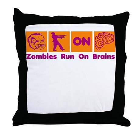 Funny Zombies Dunkin Donuts Throw Pillow