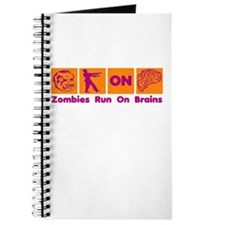 Funny Zombies Dunkin Donuts Journal