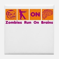 Funny Zombies Dunkin Donuts Tile Coaster