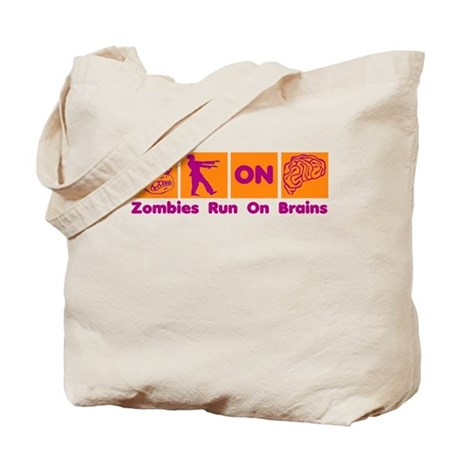 Funny Zombies Dunkin Donuts Tote Bag