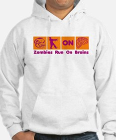Funny Zombies Dunkin Donuts Hoodie