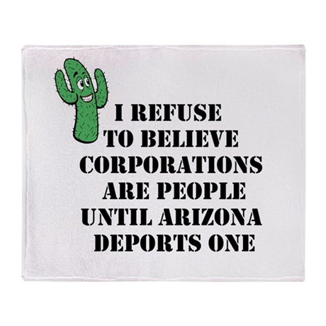 Arizona Deports Corporations Throw Blanket