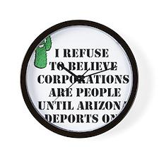 Arizona Deports Corporations Wall Clock