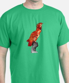 Orange Hibiscus Cockatoo T-Shirt