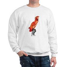 Orange Hibiscus Cockatoo Sweatshirt