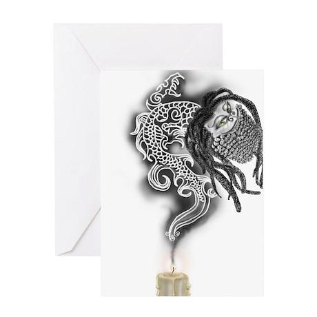Bearded Rasta Dragon Greeting Card