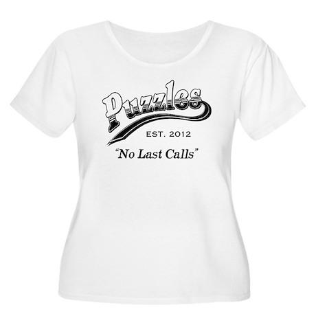 Puzzles Bar Women's Plus Size Scoop Neck T-Shirt