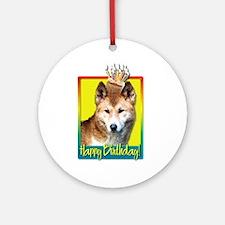 Birthday Cupcake - Dingo Ornament (Round)