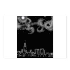 Chicago night skyline Postcards (Package of 8)