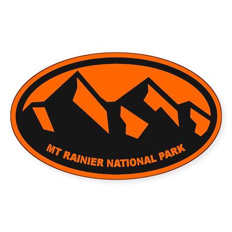 Mt. Rainier Ansel Adams Sticker (Oval)