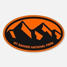 Mt. Rainier Ansel Adams Sticker (Oval)
